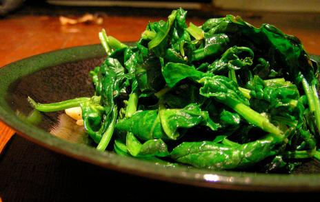 "Spinach! (via <a href=""http://www.flickr.com/photos/laurelfan/313672816/"">Laurel Fan</a>)"