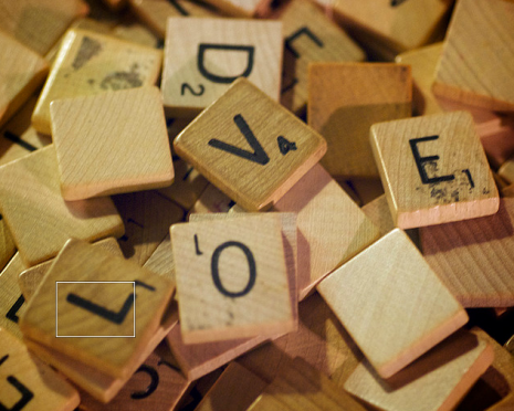 "Love and Scrabble (via <a href=""http://www.flickr.com/photos/luisar/4025646788/"">luisar</a>)"