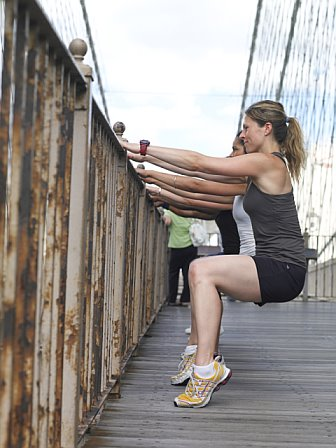 "Bridge Work (Via <a href=""http://www.brooklynbridgebootcamp.com"">Brooklyn Bridge Boot Camp</a>.)"