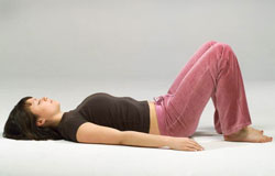"Constructive Rest (Via <a href=""http://www.pilatesdigest.com/pilates-psoas-back-pain/"">Pilates Digest</a>.)"