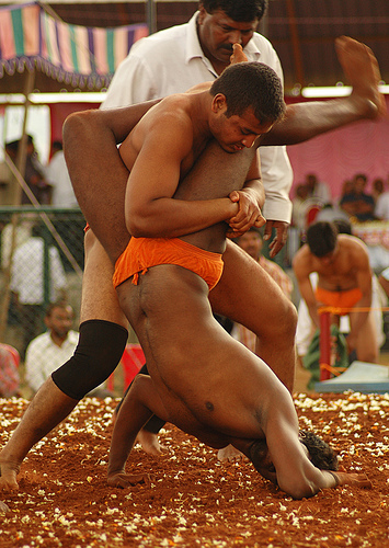 a wrestling match