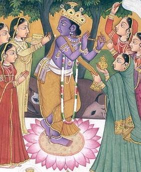 Krishna with Milkmaids