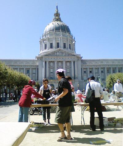 potluck at city hall!